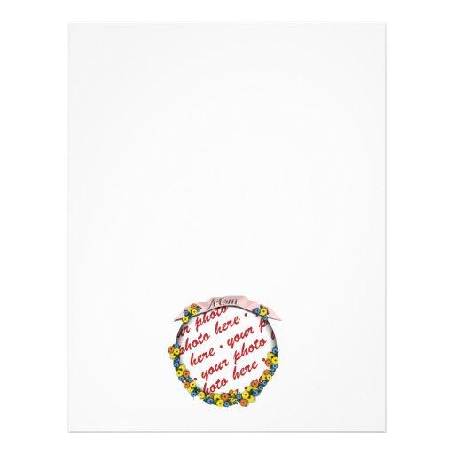 """Quadro floral da foto da faixa da """"mamã"""" panfletos"""