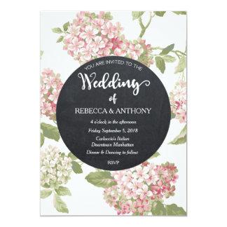 Quadro floral do marfim do convite do casamento