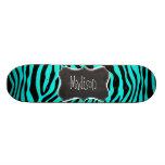 Quadro; Impressão animal da zebra brilhante de tur Skates