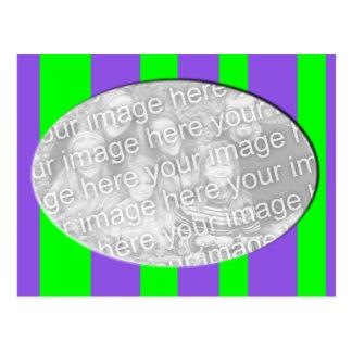 quadro listrado verde roxo da foto cartão postal
