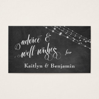 Quadro, luzes conselho e Bem-Desejos Textured Cartão De Visitas