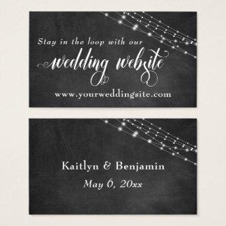 Quadro & luzes feericamente que Wedding o Web site Cartão De Visitas