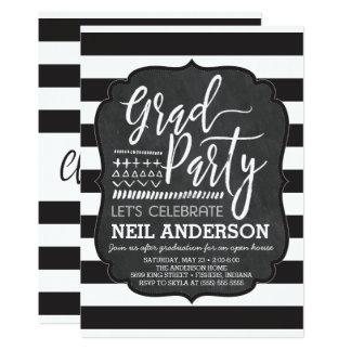 Cartão Quadro moderno convites de festas esboçados do