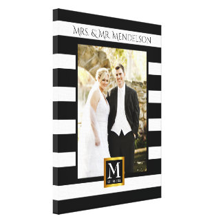 Quadro moderno personalizado da foto do casamento