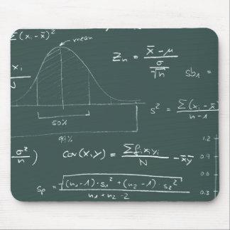 Quadro-negro das estatísticas mouse pad