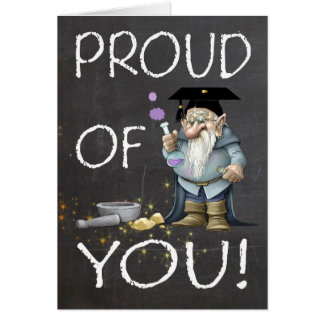 Quadro orgulhoso de você graduação com gnomo cartões