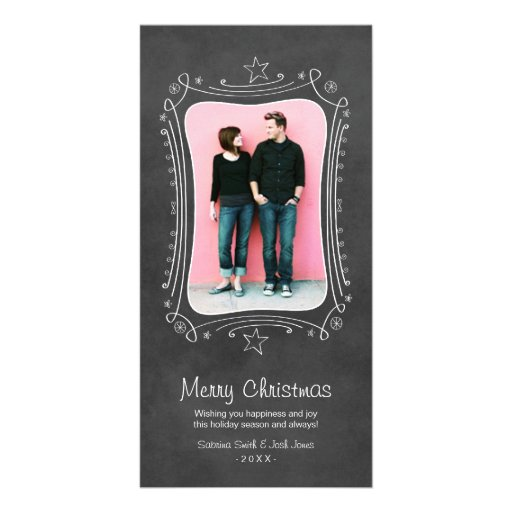 Quadro preto do cartão com fotos | do Feliz Natal