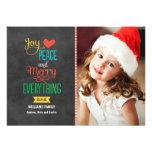 Quadro preto do cartão de cartões de natal | da fo convites