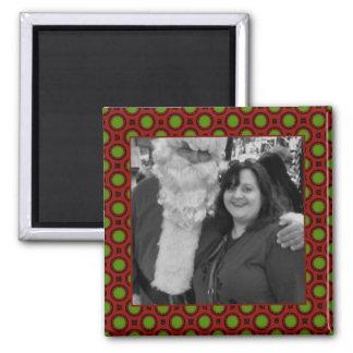 Quadro quadrado da foto das bolinhas do feriado ímã quadrado