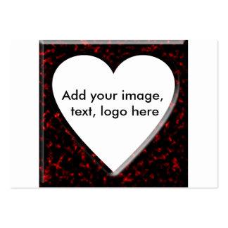Quadro quadrado de mármore vermelho com coração cartão de visita grande