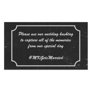 Quadro que Wedding o lembrete de Hashtag Cartão De Visita