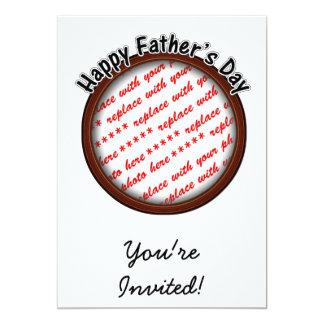 Quadro redondo da foto de Brown do dia dos pais Convite 12.7 X 17.78cm