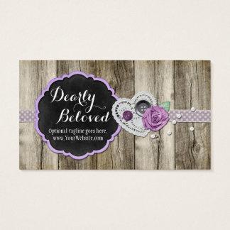 Quadro romântico, coração do laço - cara amado cartão de visitas