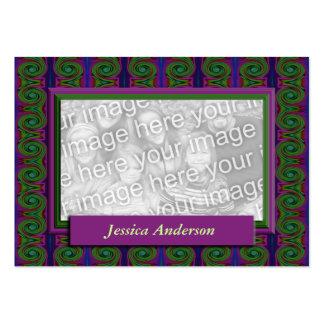 quadro roxo da foto do abstrato do verde cartão de visita grande