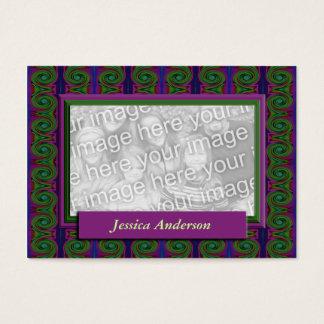 quadro roxo da foto do abstrato do verde cartão de visitas