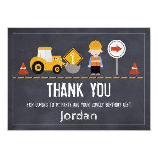 Quadro sob cartões de agradecimentos da construção convite 11.30 x 15.87cm