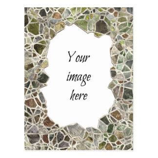 Quadro verde do mosaico cartão postal