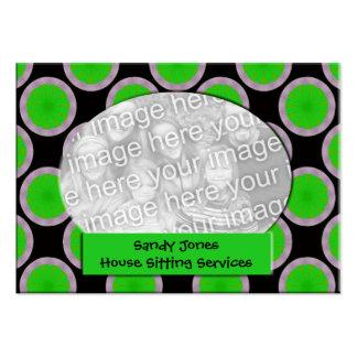 Quadro verde e preto da foto do círculo modelo cartao de visita