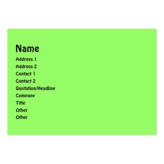 quadro verde e preto da foto dos círculos cartão de visita grande