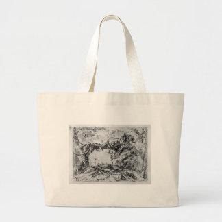 Quadros decorativos do capricho no meio de uma sacola tote jumbo