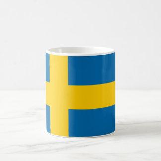 Qualidade da bandeira da suecia caneca de café