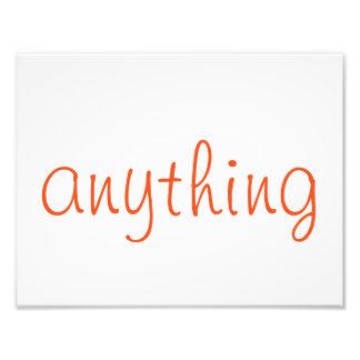 """""""Qualquer coisa"""" arte da parede (alaranjada) Impressão De Foto"""