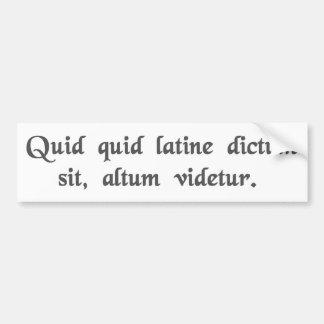 Qualquer coisa disse nos sons Latin profundos Adesivos