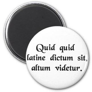 Qualquer coisa disse nos sons Latin profundos Ímã Redondo 5.08cm