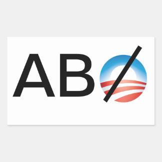 Qualquer um mas Obama Adesivos Em Forma Retangular