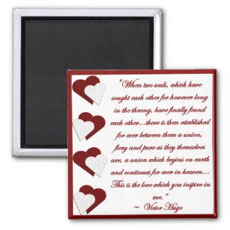 Quando duas almas… Ímã das citações de Victor Hugo Imã De Geladeira