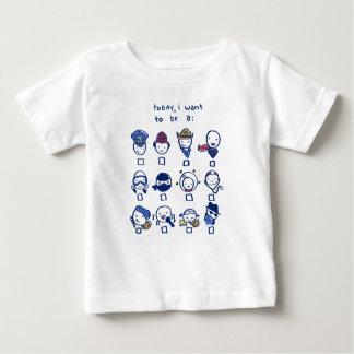 Quando eu crescer acima… camiseta para bebê