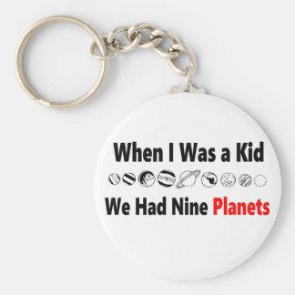 quando eu era miúdo nós tivemos nove planetas chaveiro