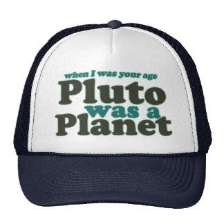 Quando eu era sua idade Pluto era um planeta Bonés