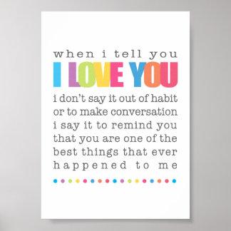 Quando eu lhe disser eu te amo o poster