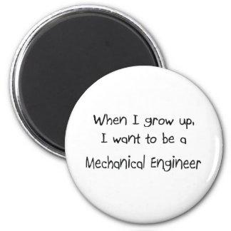 Quando eu me cresço acima queira ser um engenheiro ímã redondo 5.08cm