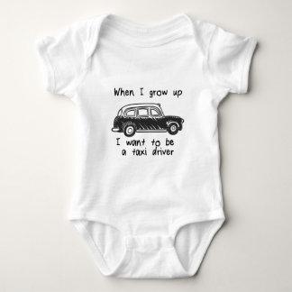 Quando eu me cresço acima queira ser um taxista body para bebê