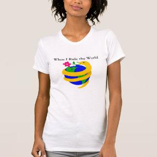 Quando eu ordenar o mundo camisetas