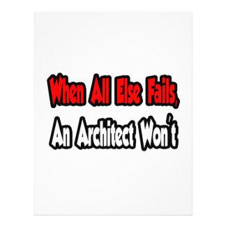 Quando falha toda mais, um arquiteto não panfleto personalizados