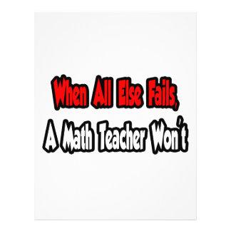 Quando falha toda mais, um professor de matemática panfletos coloridos