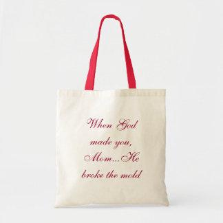 """""""Quando o deus fez a mamã """" Bolsas"""