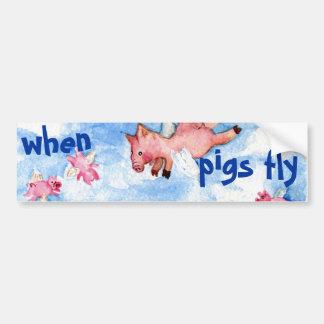 Quando os porcos voarem o autocolante no vidro tra adesivo para carro