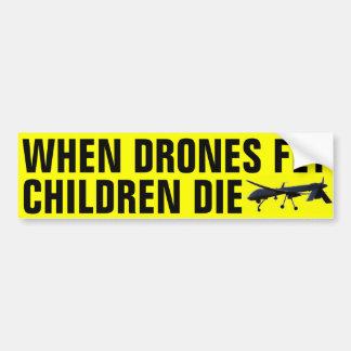 Quando os zangões voam as crianças morrem adesivo para carro