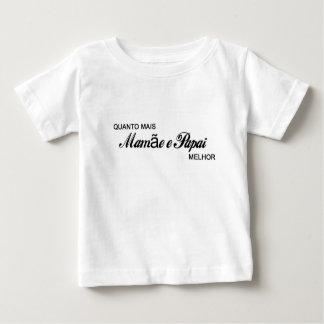Quanto mais mamãe e papai melhor! t-shirts