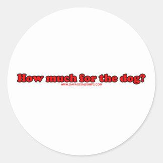 Quanto para o cão T Adesivos Redondos