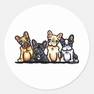 Quarteto do buldogue francês adesivo