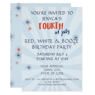 Quarto do convite do aniversário de julho