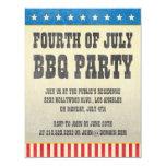 Quarto do vintage do convite de festas de julho