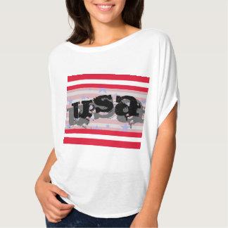 Quarto dos EUA América do Tshirt patriótico de Camiseta