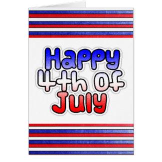 Quarto feliz do cartão de julho