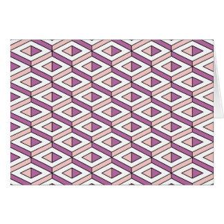 quartzo cor-de-rosa da geometria 3d cartão comemorativo